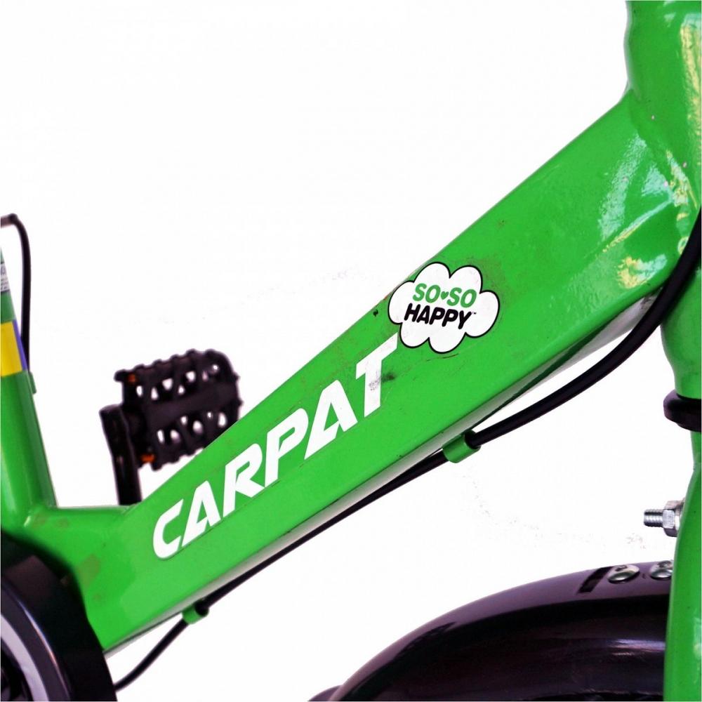 Bicicleta Carpat C1801C 18 V-Brake cosulet si roti ajutatoare 5-7 ani verdenegru
