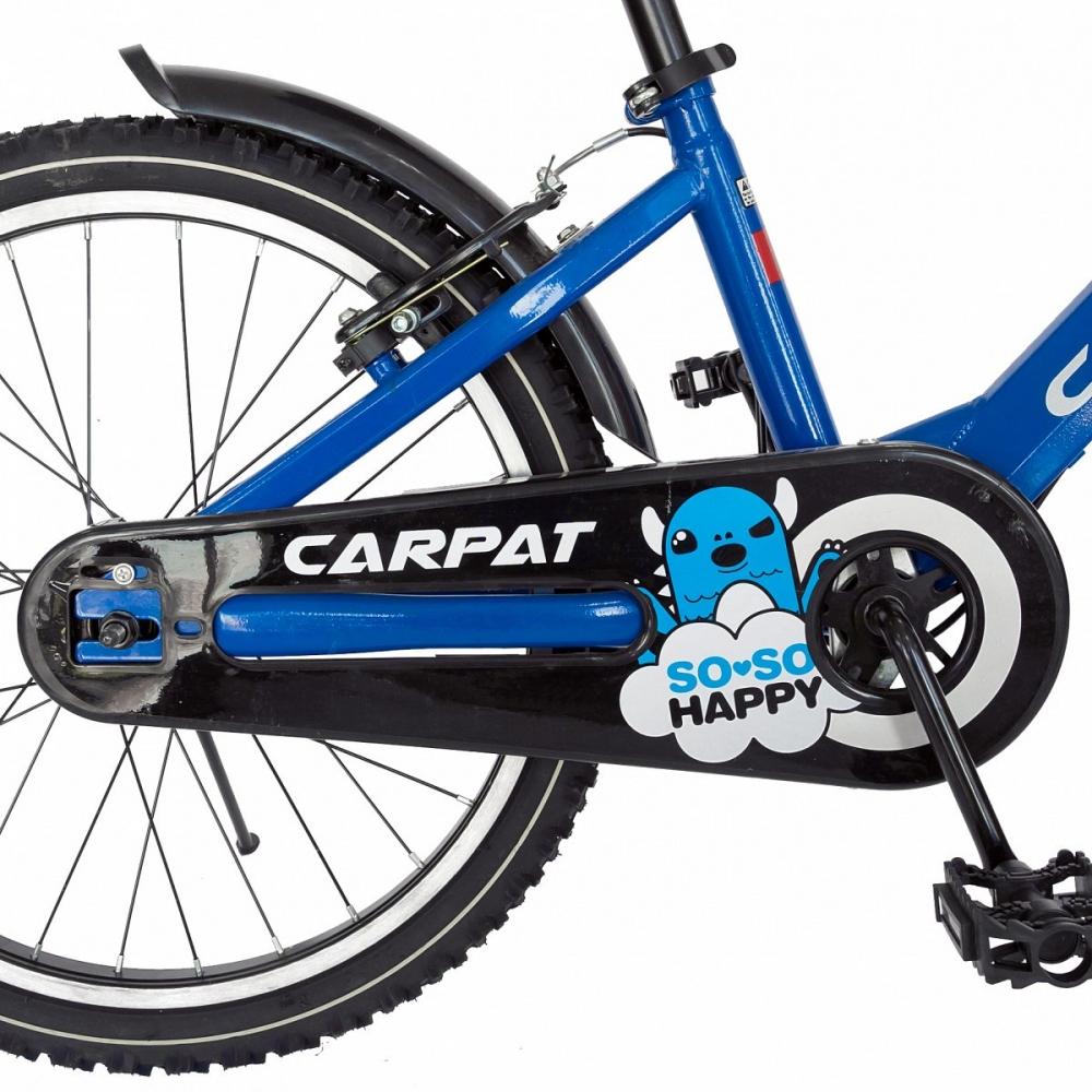 Bicicleta Carpat C2001C 20 V-Brake cu cosulet 7-10 ani albastrunegru