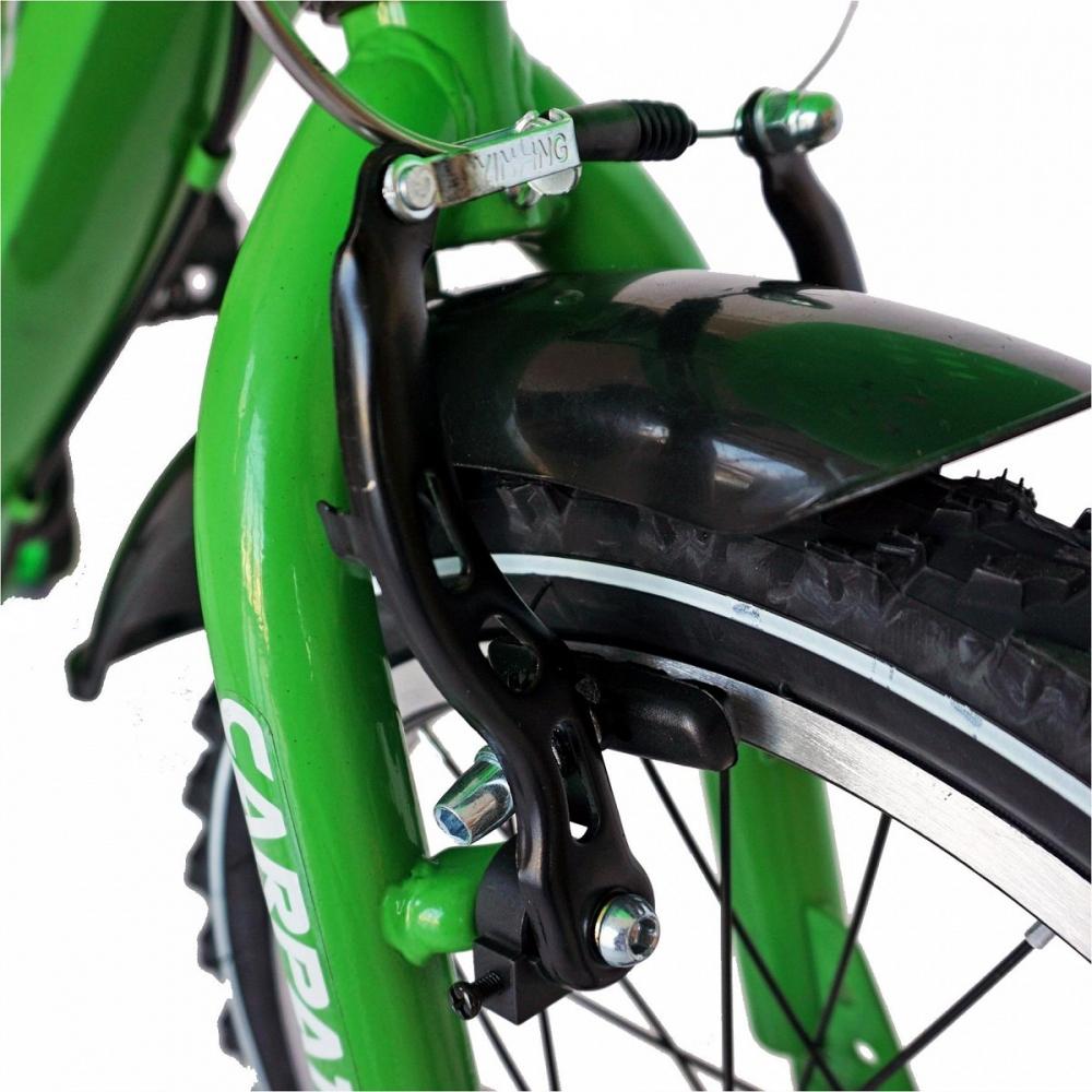 Bicicleta Carpat C2001C 20 V-Brake cu cosulet 7-10 ani verdenegru