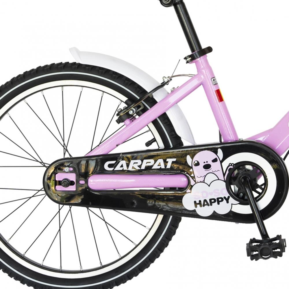 Bicicleta Carpat C2002C 20 V-Brake cu cosulet 7-10 ani roznegru