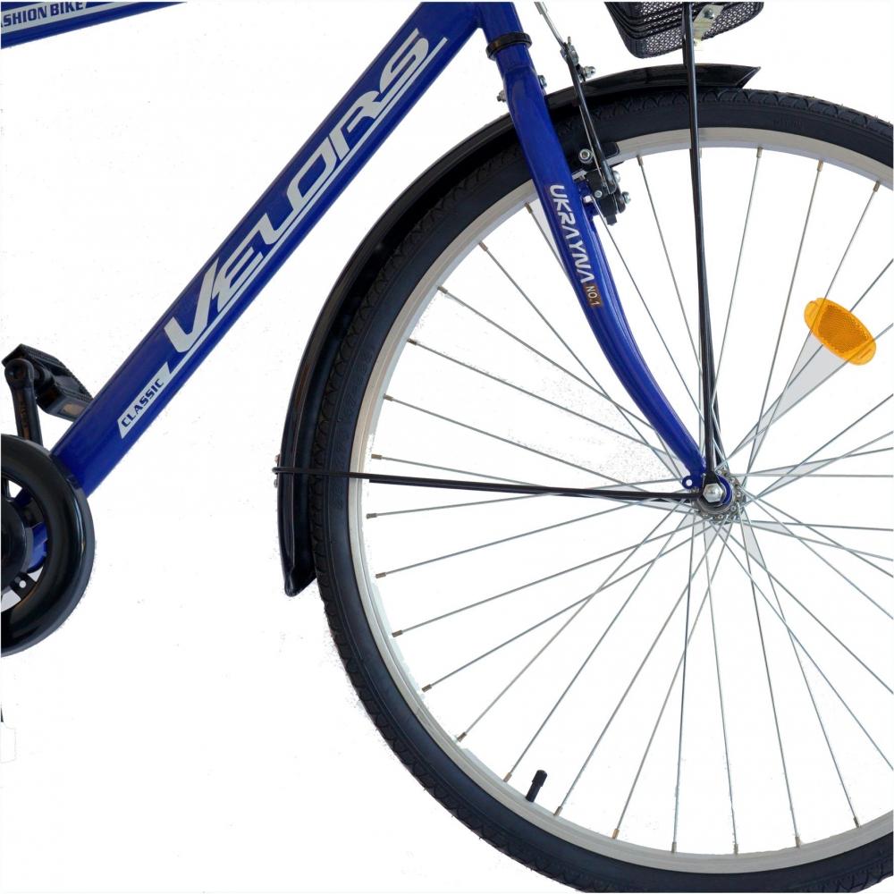 Bicicleta City 28 Velors V2893B cu cadru otel albastrualb imagine