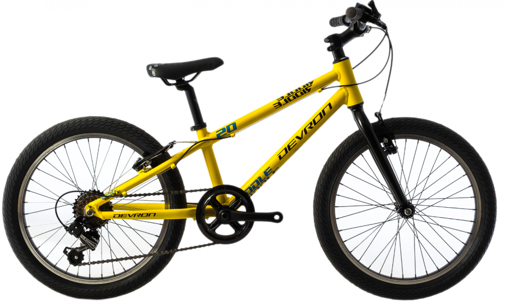 Bicicleta copii Devron Riddle K1.2 245 mm galben 20 inch imagine