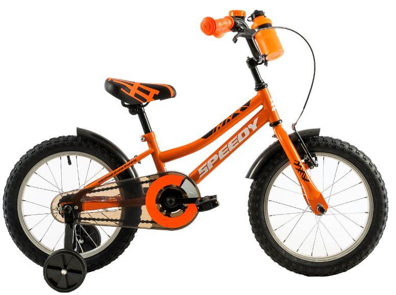 Bicicleta copii Dhs 1401 portocaliu negru 14 inch imagine