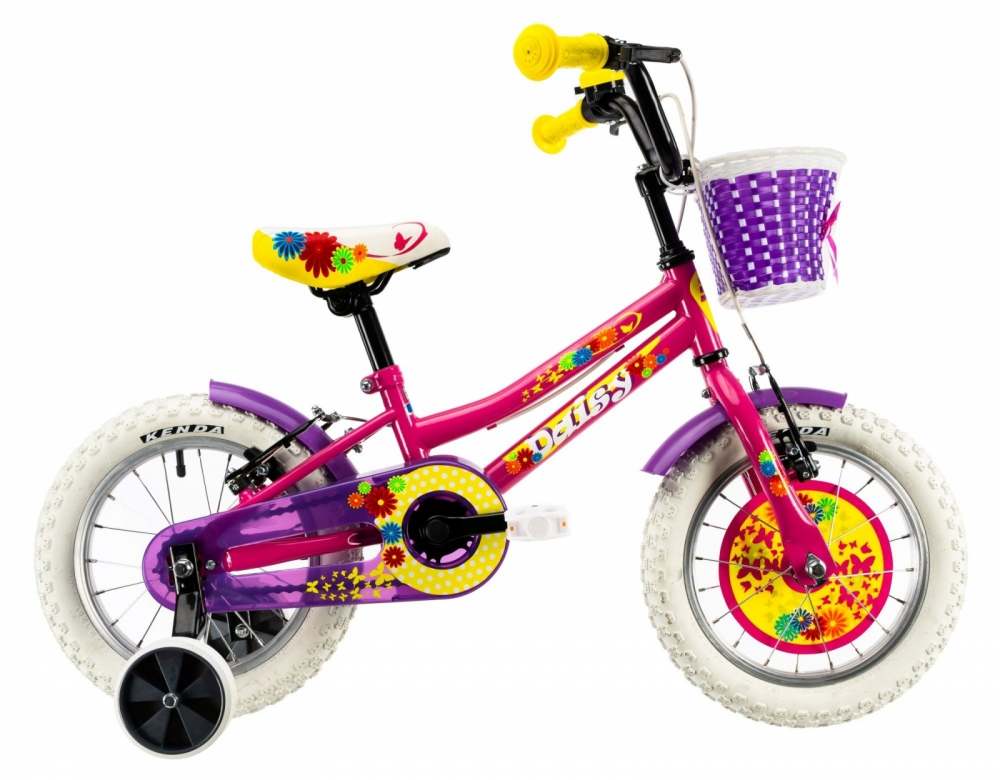 Bicicleta copii Dhs 1404 roz 14 inch
