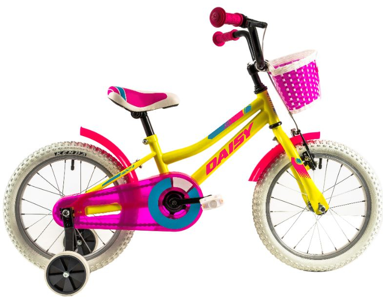 Bicicleta copii Dhs 1602 galben 16 inch
