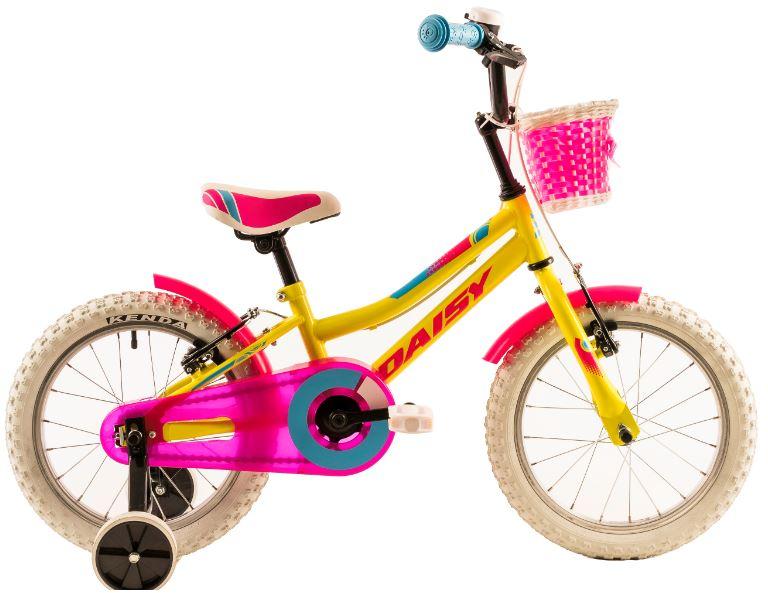 Bicicleta copii Dhs 1604 galben 16 inch