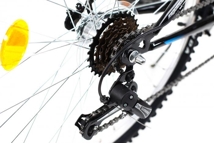 Bicicleta copii Dhs 2421 negru bleu 24 inch imagine