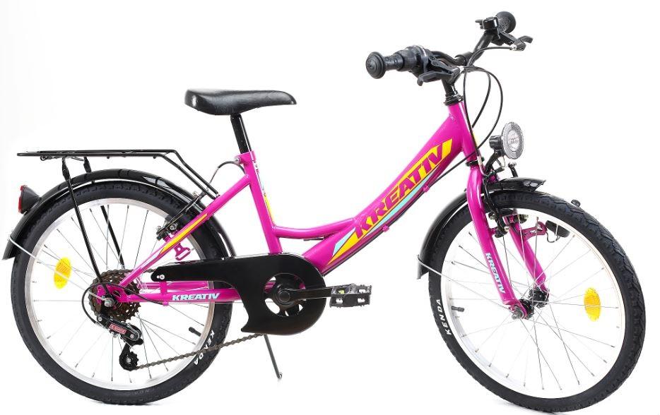 Bicicleta copii Kreativ 2014 violet 20 inch