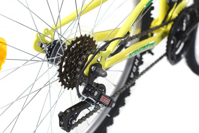 Bicicleta copii Kreativ 2441 galben deschis 24 inch