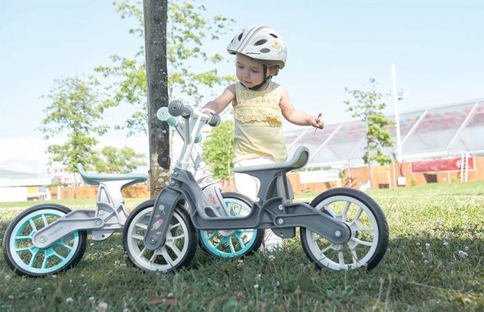 Bicicleta copii fara pedale ergonomica Polisport Bb crem mint 12 inch