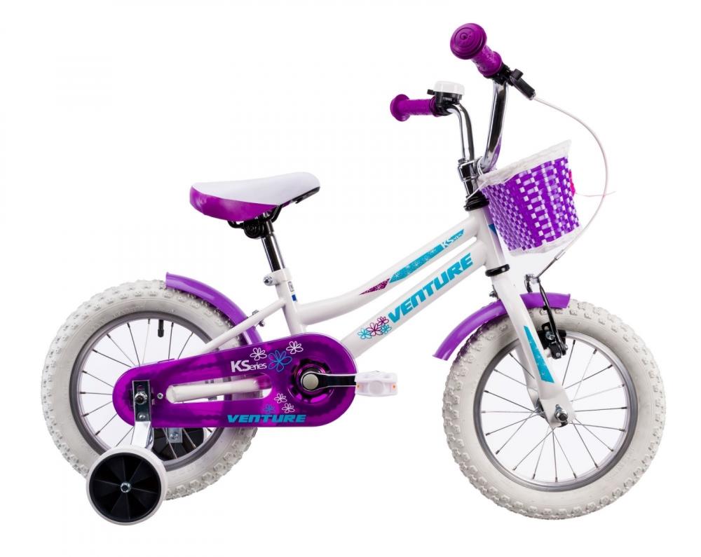 Bicicleta copii Venture 1418 alb 14 inch