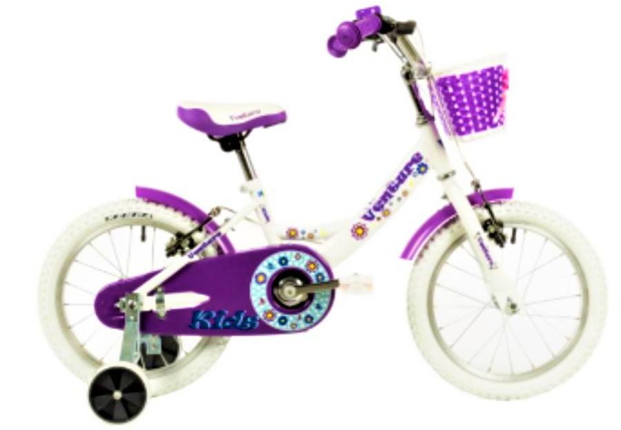 Bicicleta copii Venture 1618 alb mov 16 inch
