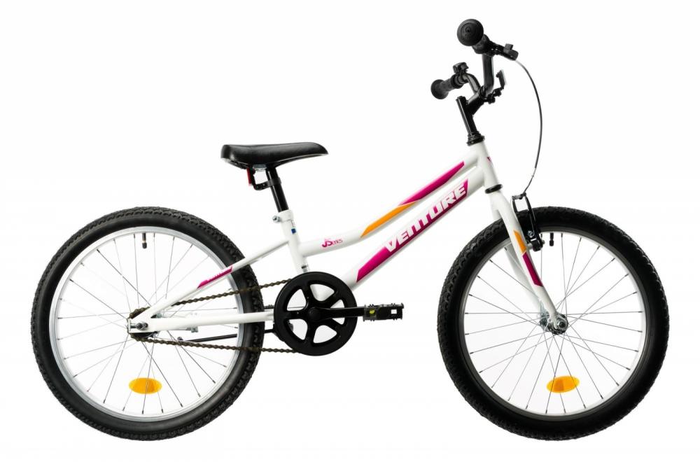 Bicicleta copii Venture 2011 alb roz 20 inch