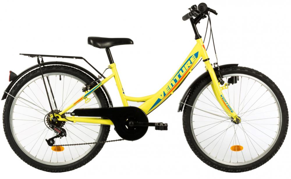 Bicicleta copii Venture 2418 galben 24 inch