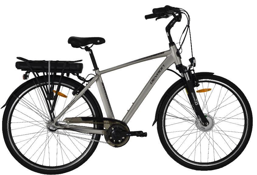 Bicicleta electrica Devron 28121 Xl Champagne 28 inch imagine