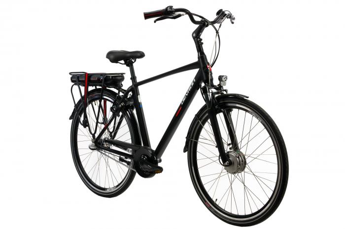 Bicicleta electrica Devron 28123 M negru mat 28 inch