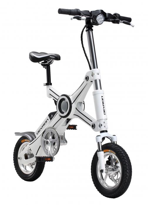 Bicicleta electrica Devron pliabila Folding X3 alb 20 inch
