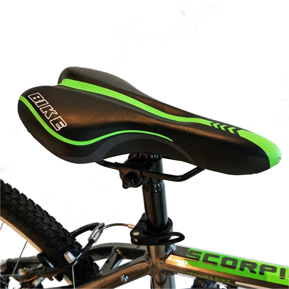 Bicicleta Mtb-Ht 26 Velors Scorpion V2671A cadru aluminiu culoare griverde imagine