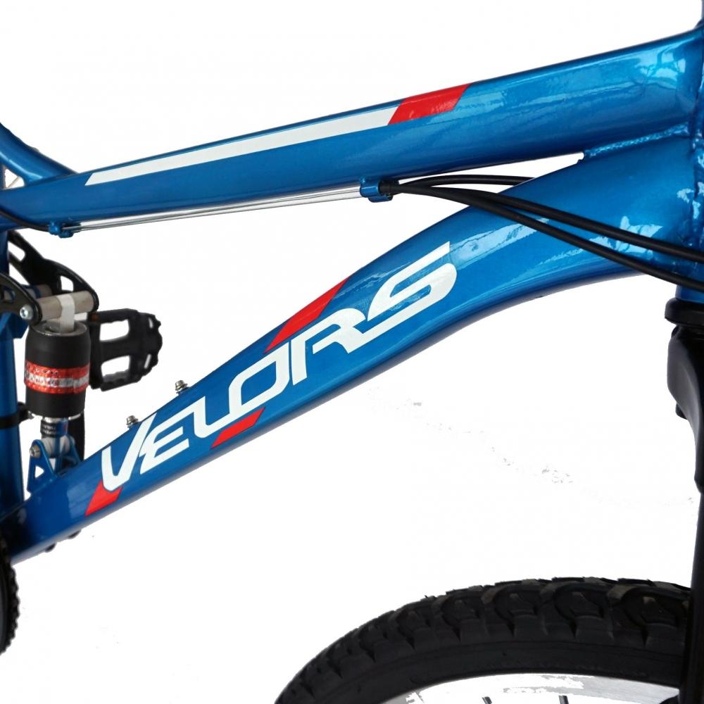 Bicicleta Mtb Velors 2060A roata 20 frana V-Brake 7-10 ani albastrunegru