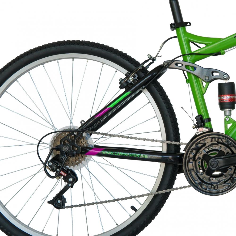 Bicicleta Mtb Velors 2060A roata 20 frana V-Brake 7-10 ani verdenegru