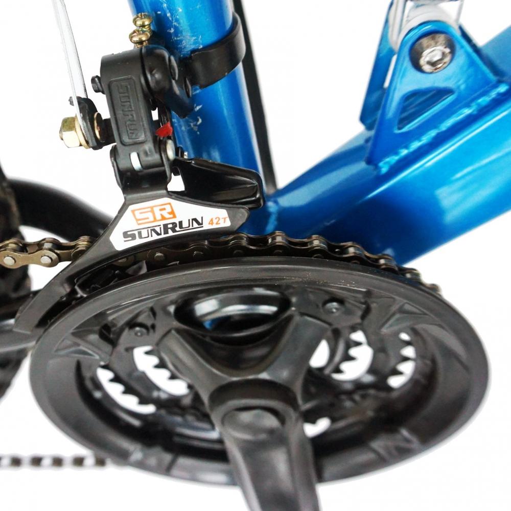 Bicicleta Mtb Velors 2460A roata 24 frana V-Brake albastrunegru