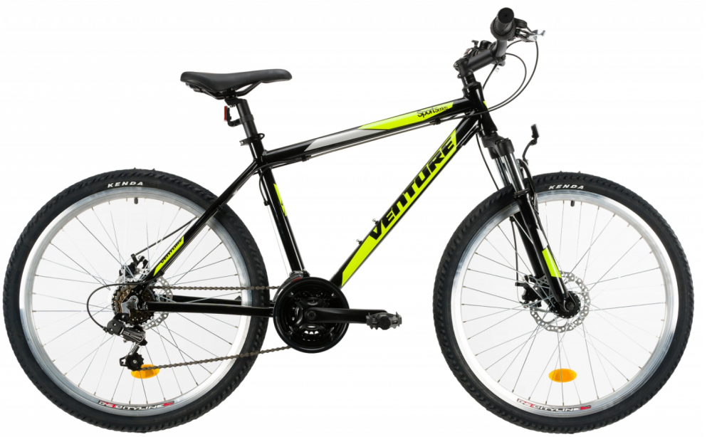 Bicicleta Mtb Venture 2621 S negru galben 26 inch