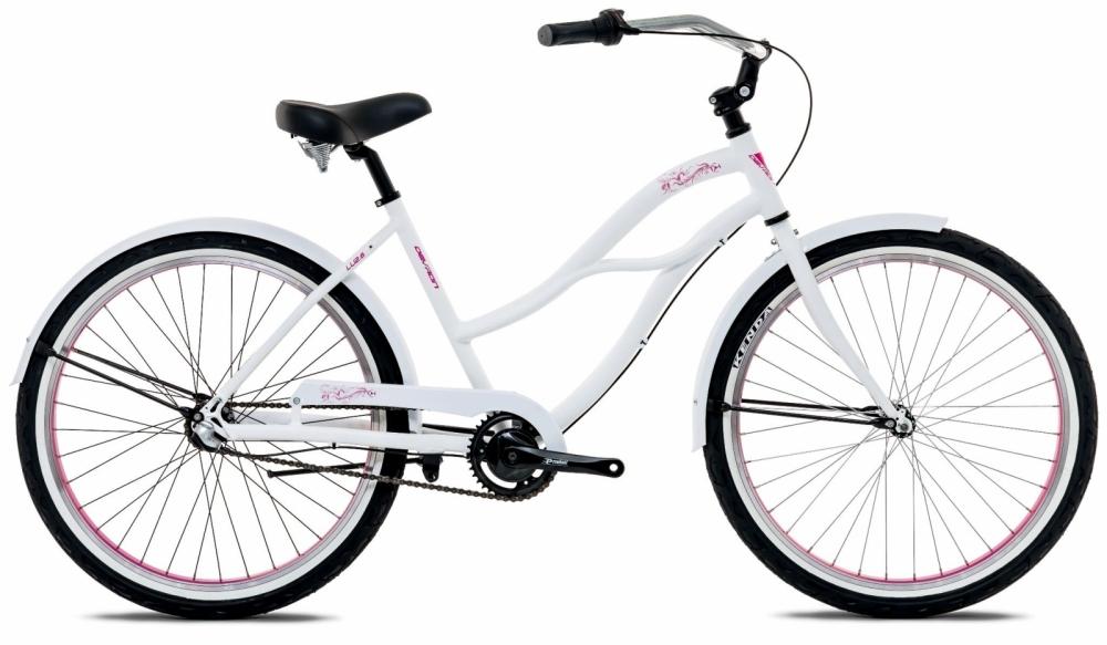 Bicicleta oras Devron Urbio Lu 2.6 Ice white M 26 inch imagine