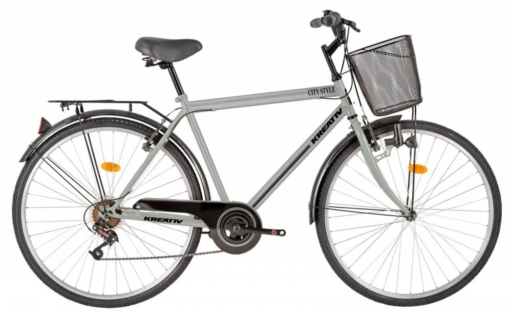 Bicicleta oras Kreativ 2813 L gri 28 inch