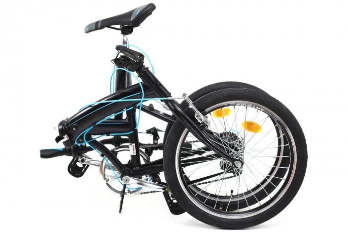 Bicicleta pliabila Dhs 2095 negru 20 inch