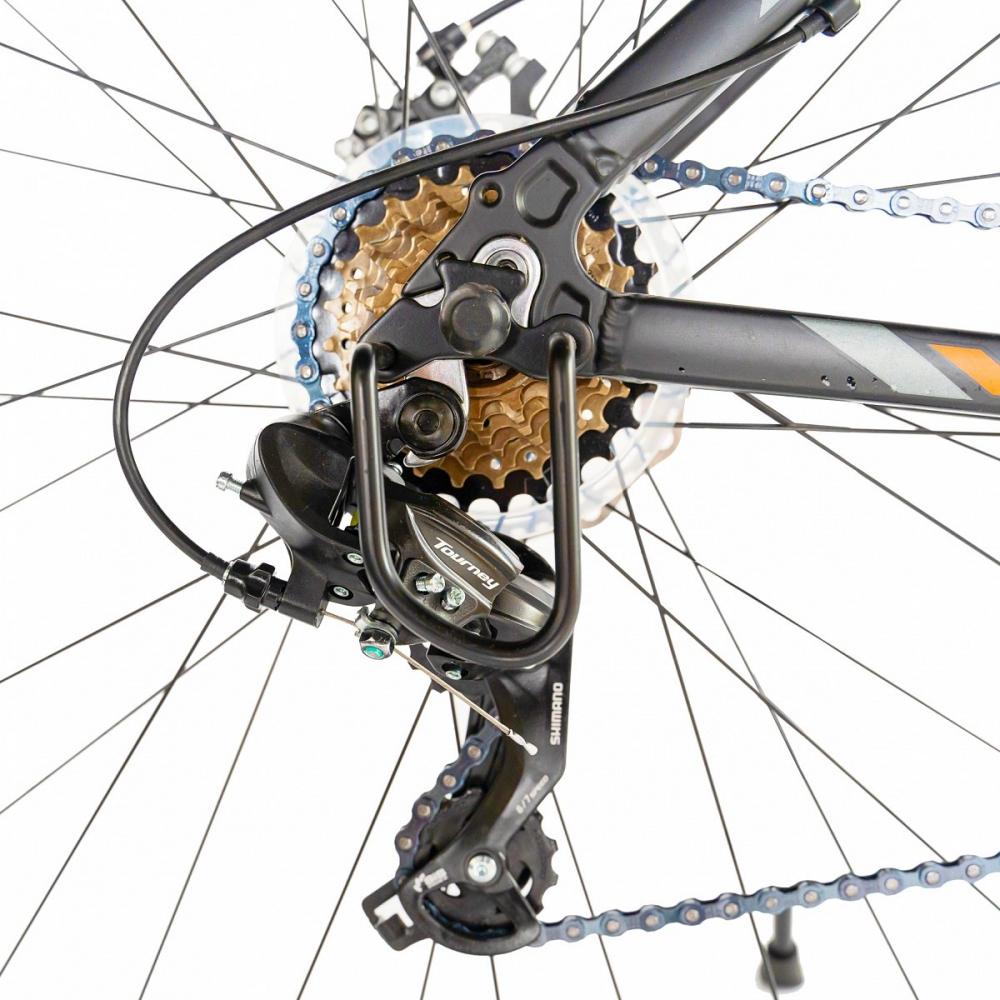 Bicicleta de munte Carpat C2970A 29 cu cadru aluminiu 21 viteze negruportocaliu