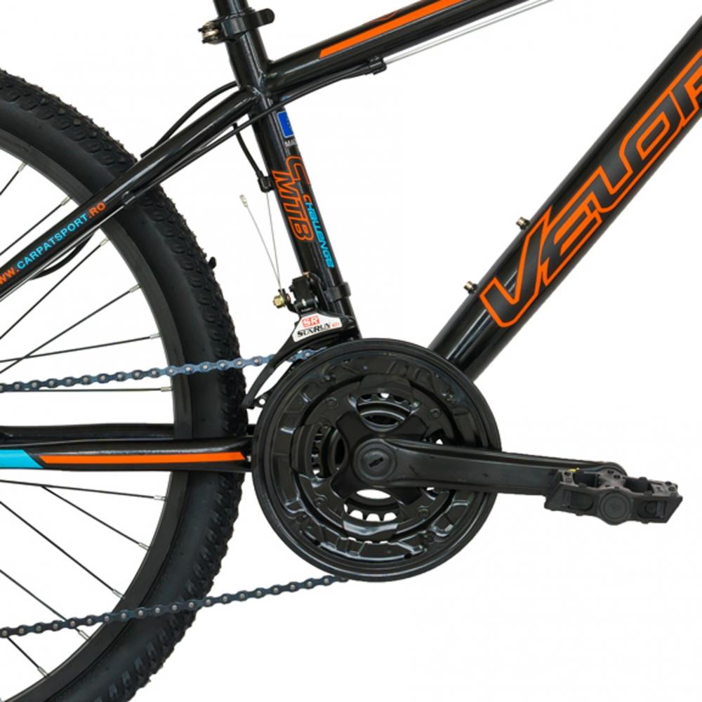 Bicicleta de munte Velors 2610A 26 frana disc 21 viteze negruportocaliu