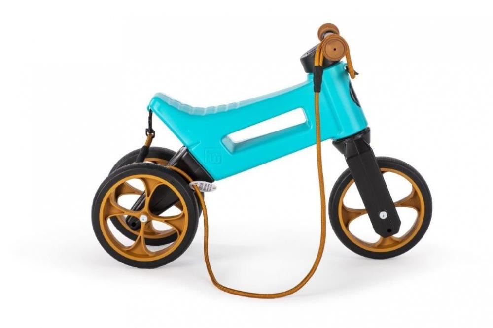 Bicicleta fara pedale 2 in 1 Funny Wheels Supersport Aqua