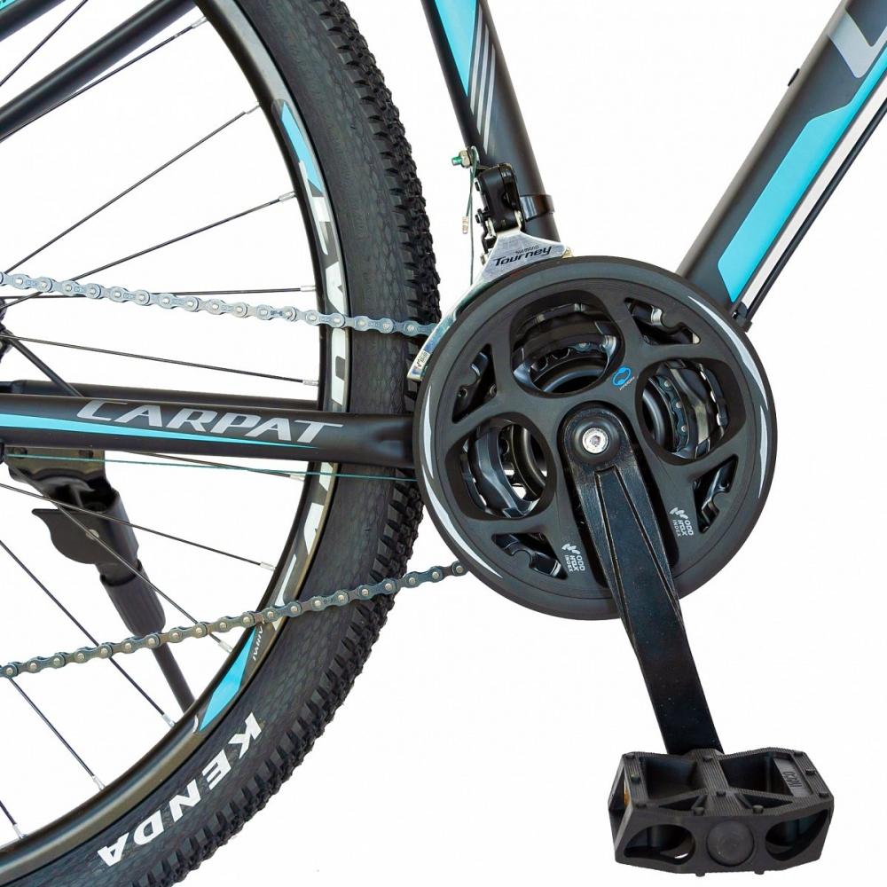 Bicicleta hidraulica Mtb-Ht Carpat C2969H 29 aluminiu frane hidraulice disc Shimano 21 viteze negruturquoise