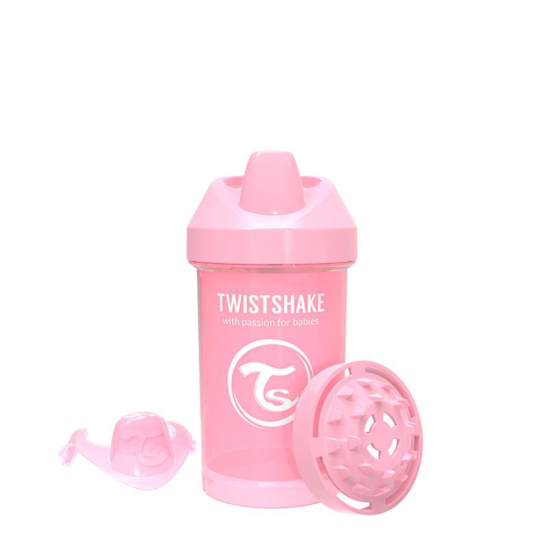 Canuta Crawler Cup 8 luni+ 300 ml pastel pink Twistshake