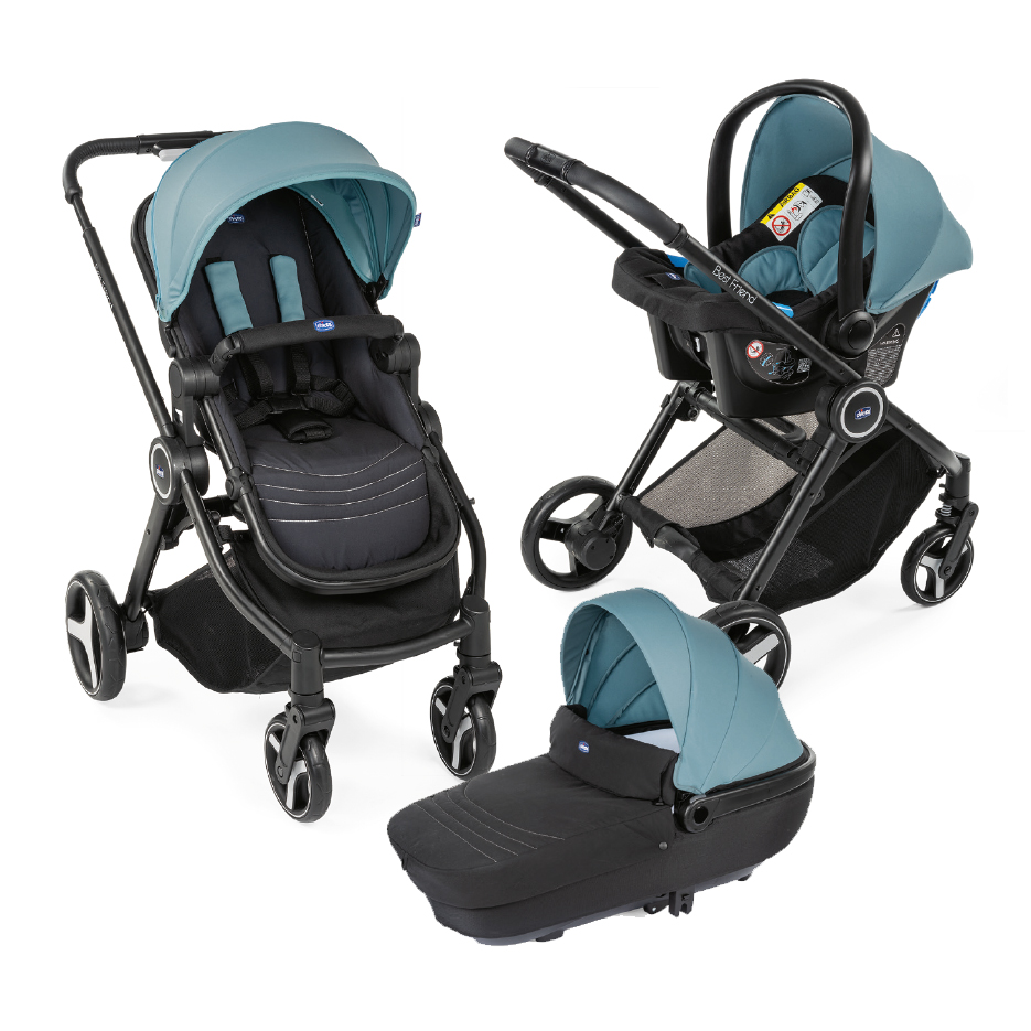Carucior copii 3 in 1 Chicco Best Friend+ Comfort Cactus 0luni+