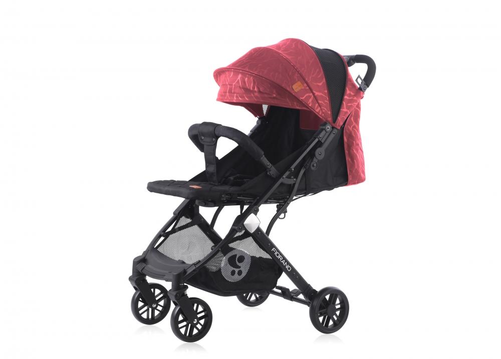 Carucior pentru nou-nascut Fiorano Black Red - 1