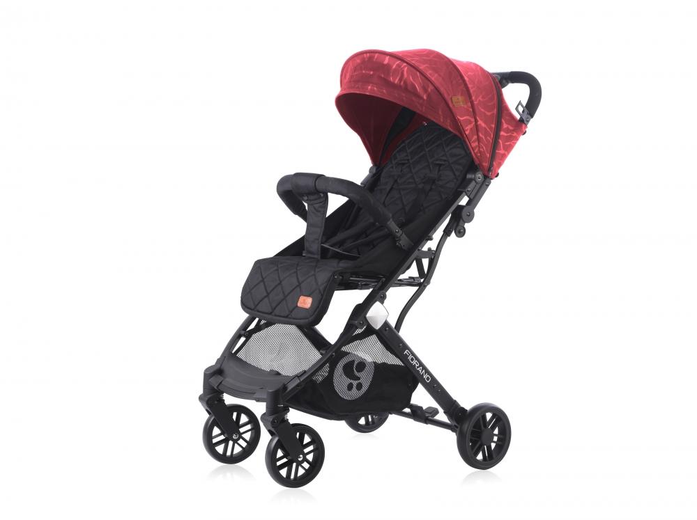 Carucior pentru nou-nascut Fiorano Black Red