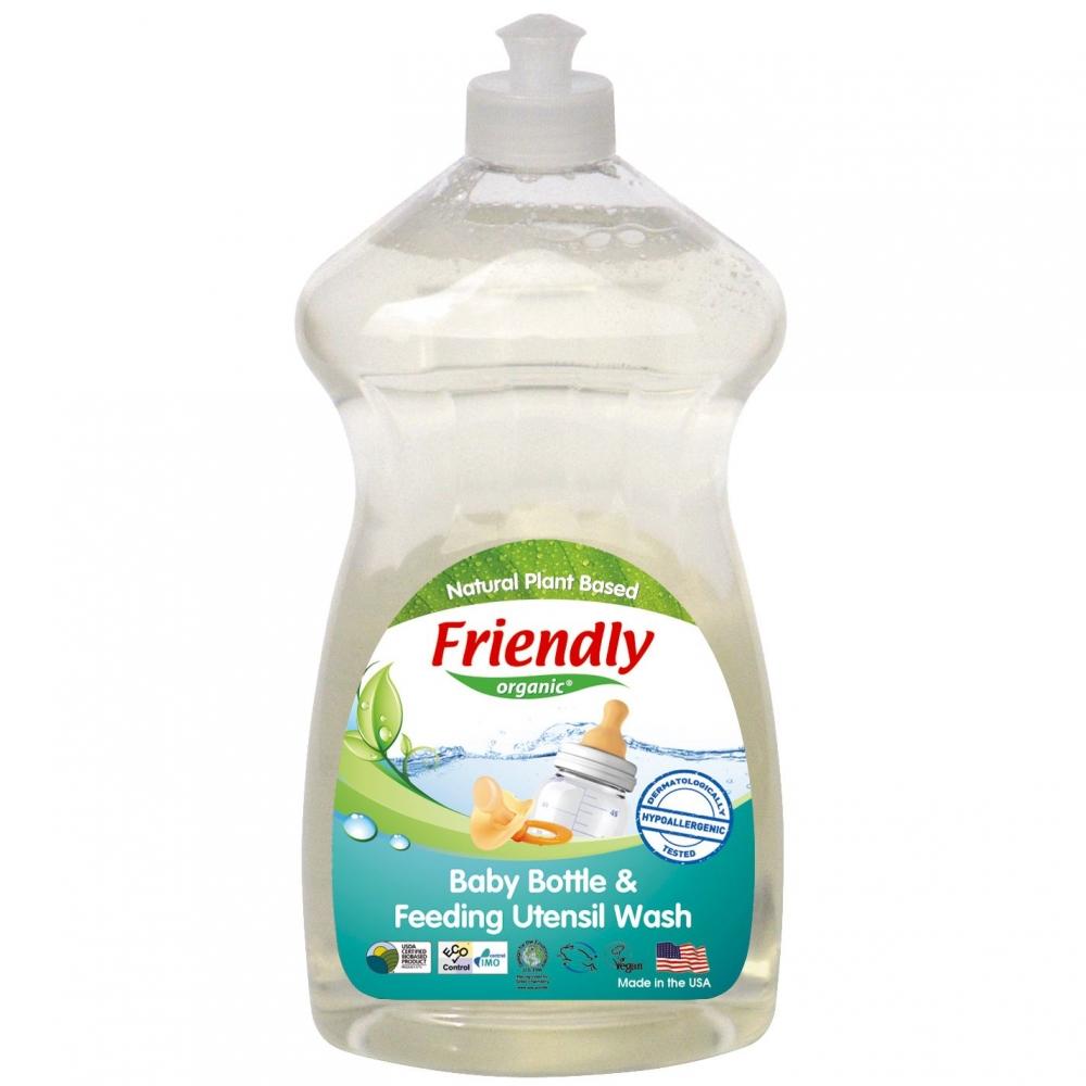 Detergent vase si biberoane fara miros Friendly Organic 739 ml