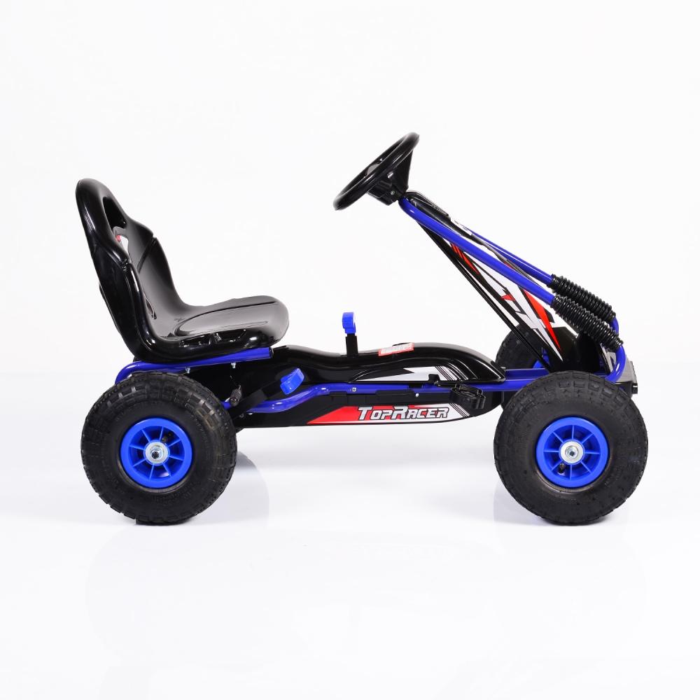 Kart cu pedale si roti gonflabile Top Racer Blue imagine