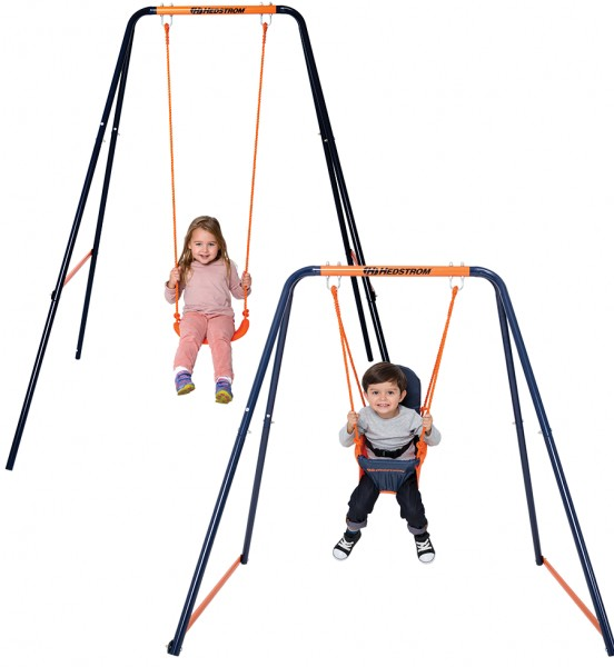 Leagan 2 in 1 pentru bebelusi si copii 08835 MVS pentru exterior din metal imagine