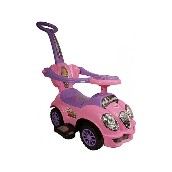 Masinuta de impins Arti Oldmobile Deluxe roz