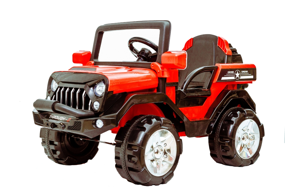 Masinuta electrica de teren cu suspensii Megalodone Red - 1