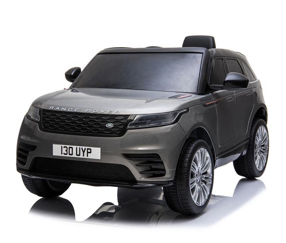 Masinuta electrica Range Rover Velar cu scaun de piele Grey