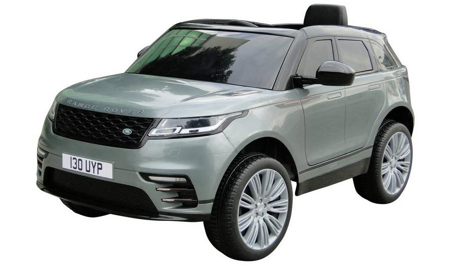 Masinuta electrica Range Rover Velar cu scaun de piele Grey - 4