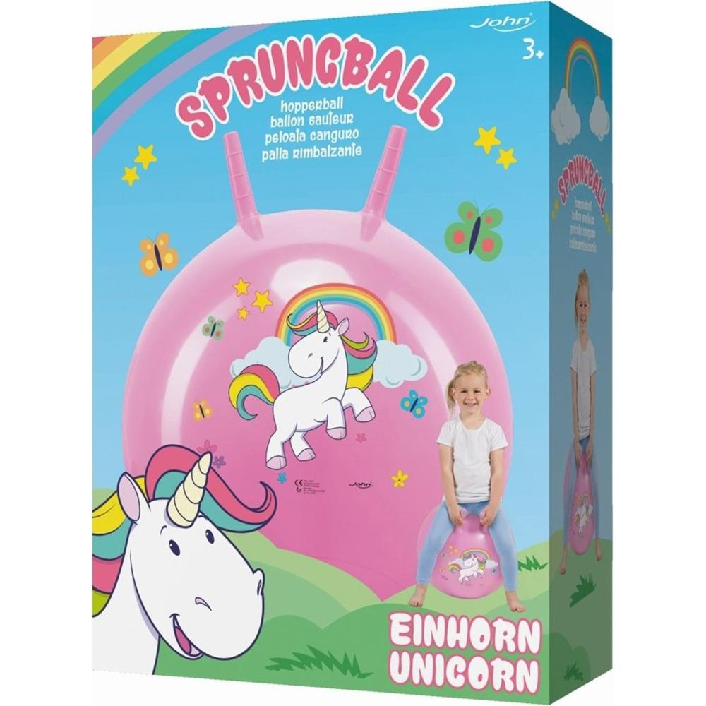 Minge gonflabila pentru sarit John Unicorn roz imagine