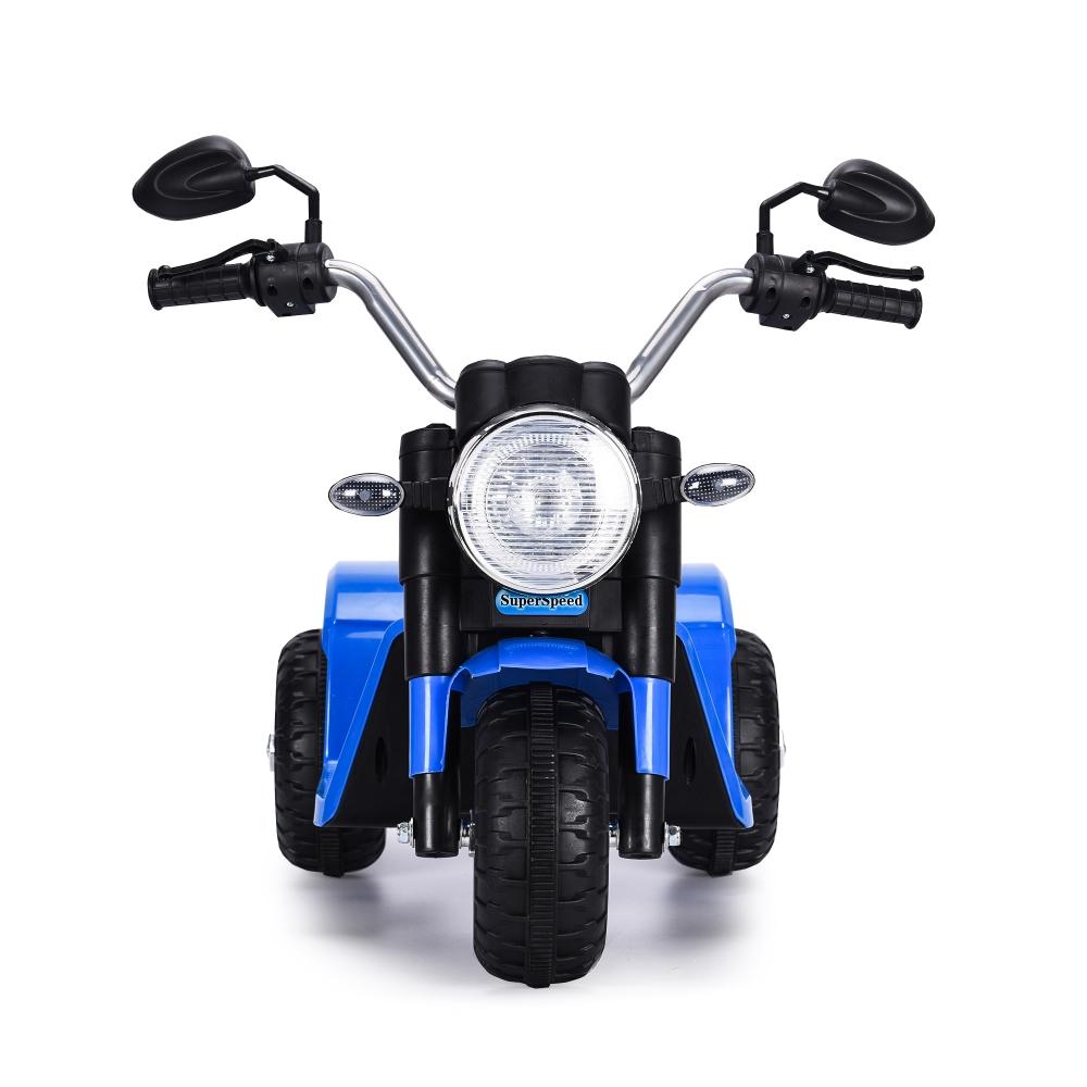 Motocicleta electrica cu scaun din piele Nichiduta Mini 6 volti Blue