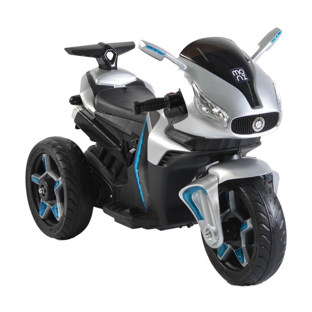 Motocicleta electrica cu roti EVA Shadow Leather Silver