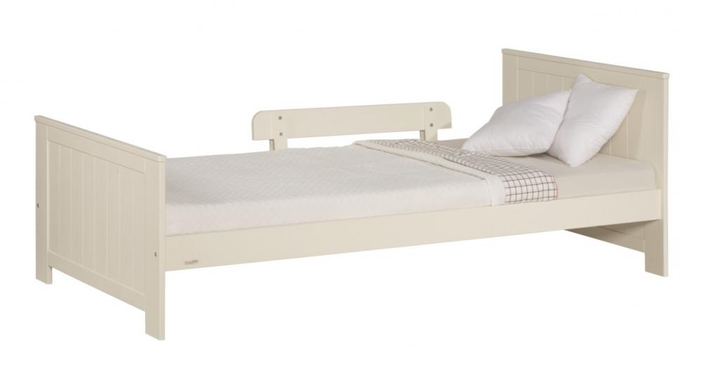 Pat copii Pinio Blanco 90x200 cm lemn de pin alb