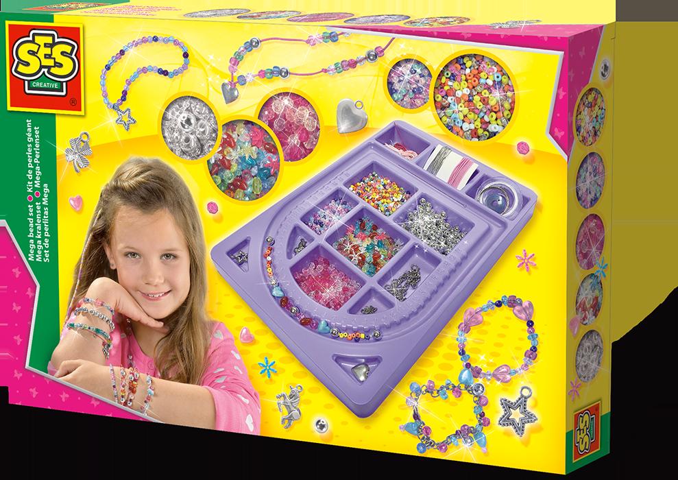 Set mega cu margele pentru bijuterii Ses Creative