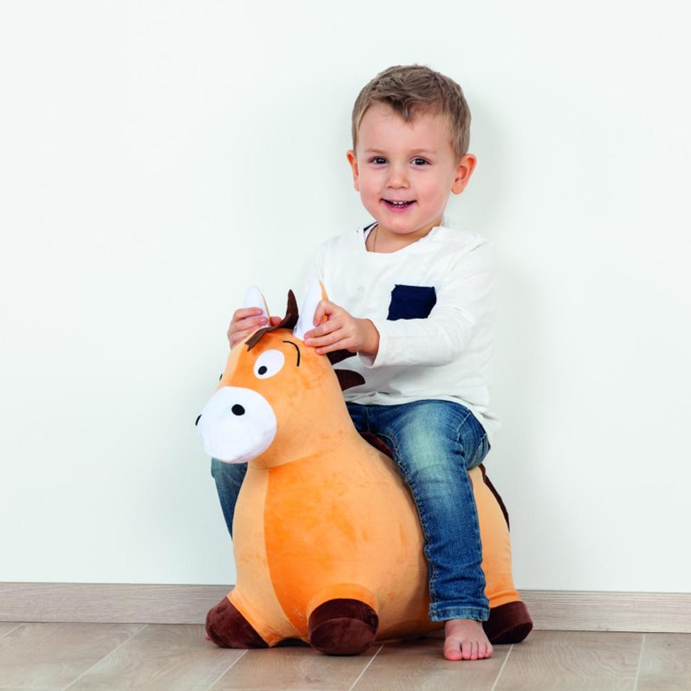 Saritor gonflabil John Pony maro cu husa plusata imagine